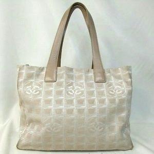 Chanel travel Shoulder bag Leather Jacquard Tote